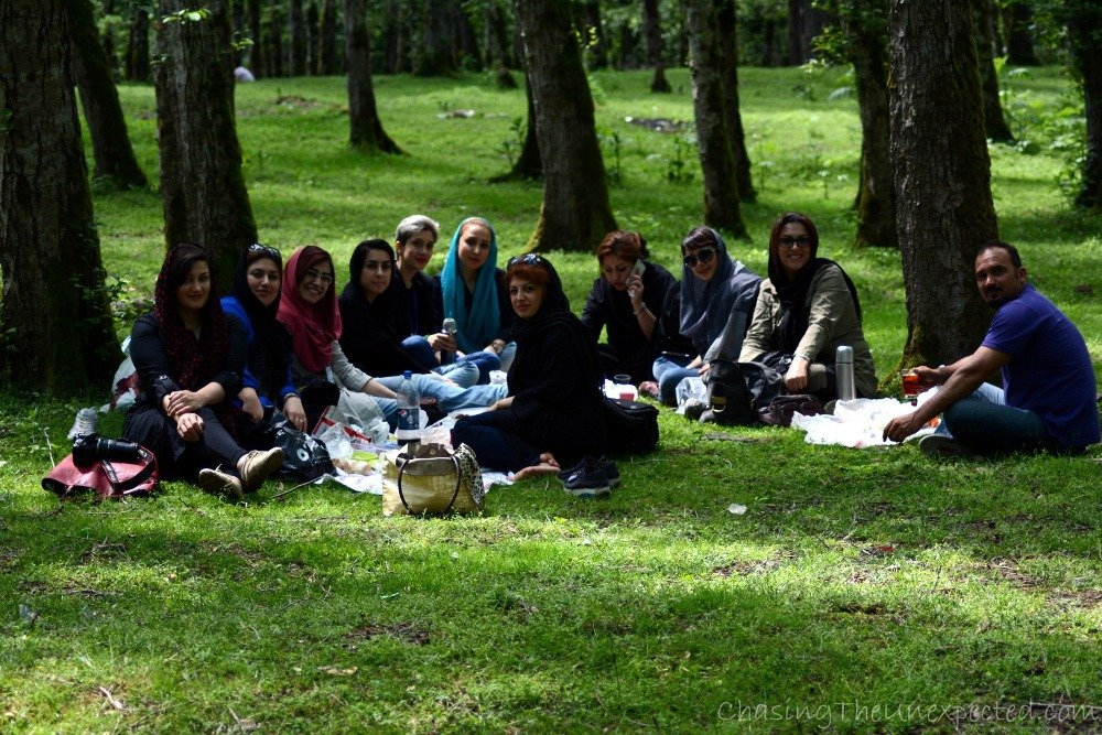 During a picnic in Iran, the best occasion for sharing each other's food