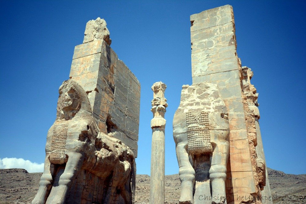 Famous Gate of Nations in legendary Persepolis