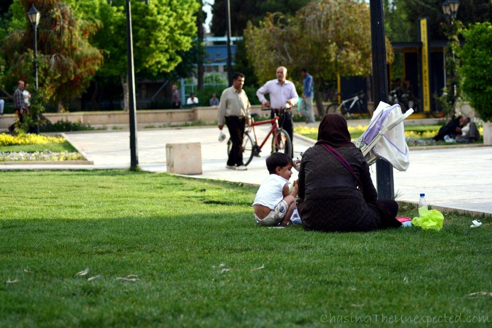 Relaxing in the park in Shiraz