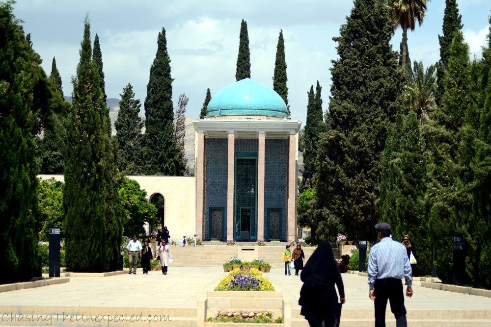The building of Saadi mausoleum in Shiraz