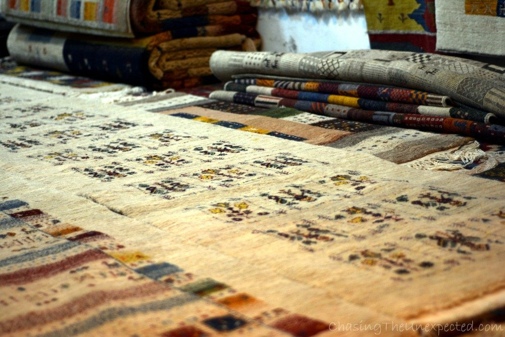 Persian rugs at Shiraz bazaar