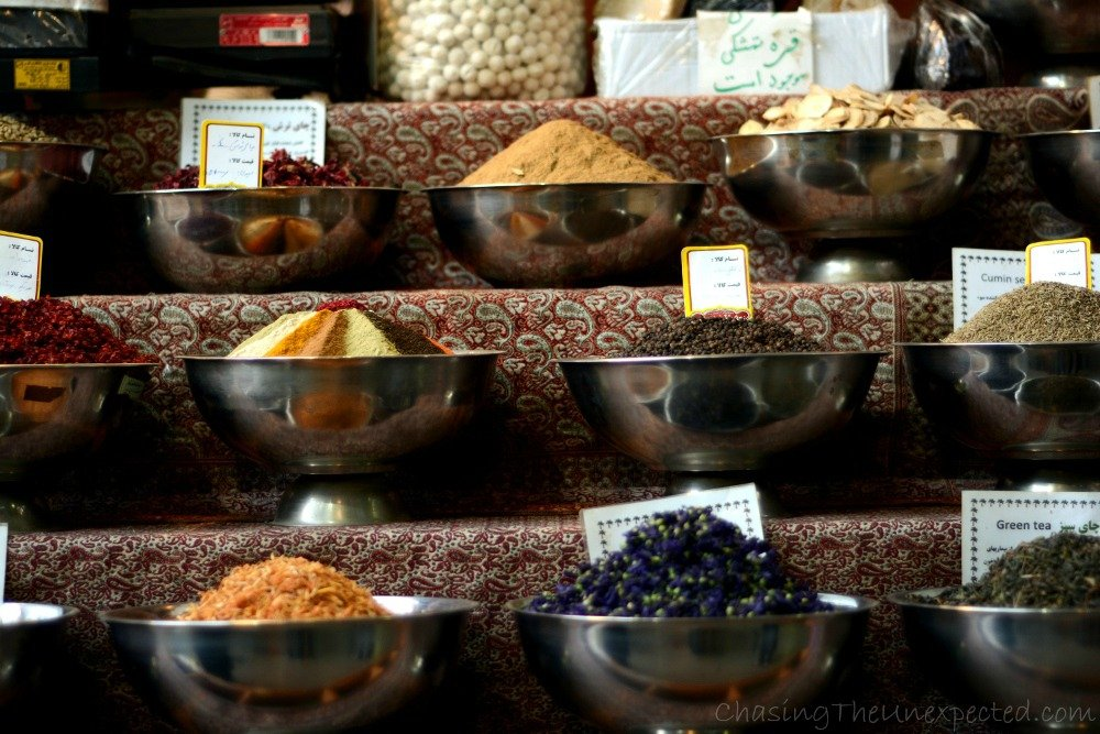 spices at shiraz vakil bazaar