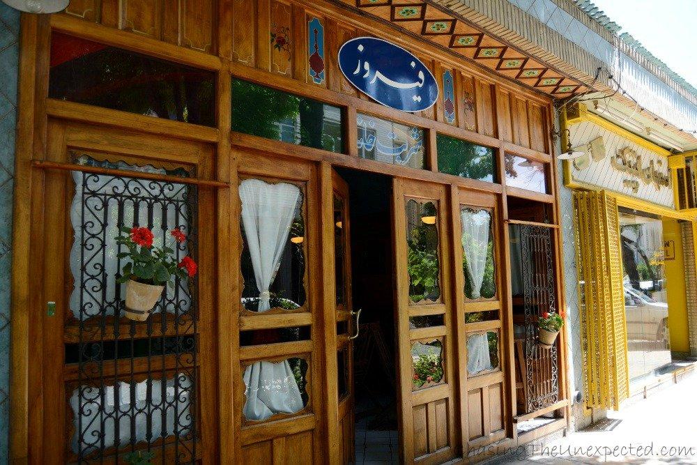 The door of quaint Firouz cafe is always open
