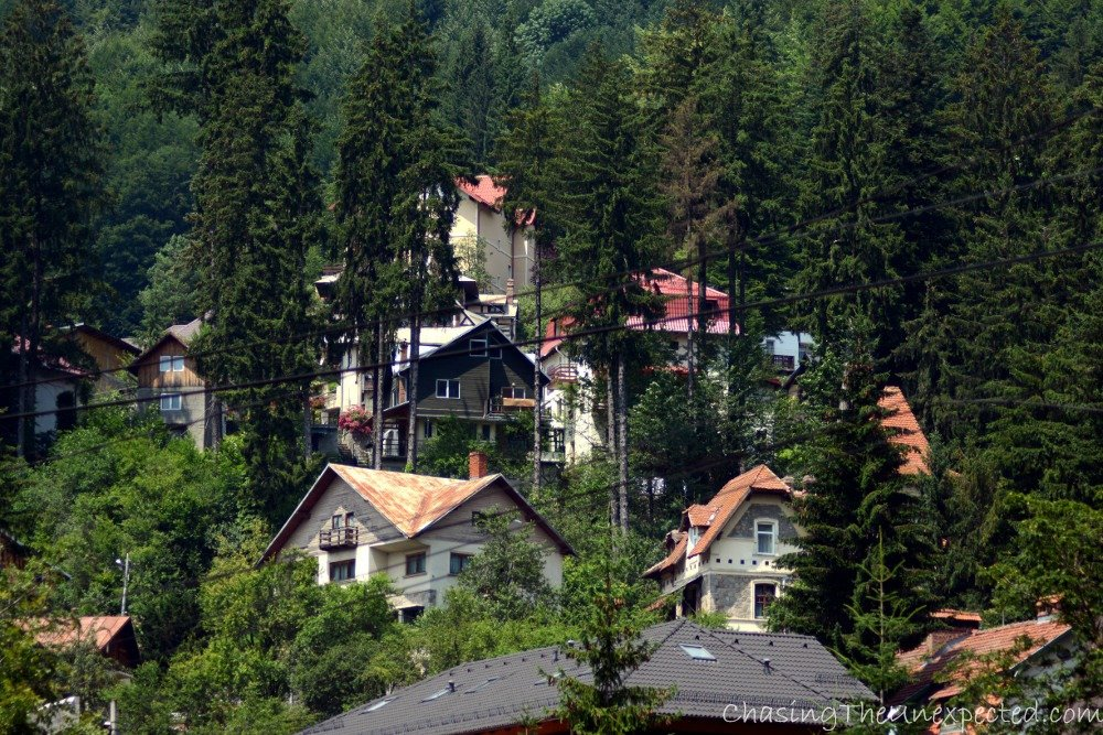 The typical architecture of charming Sinaia