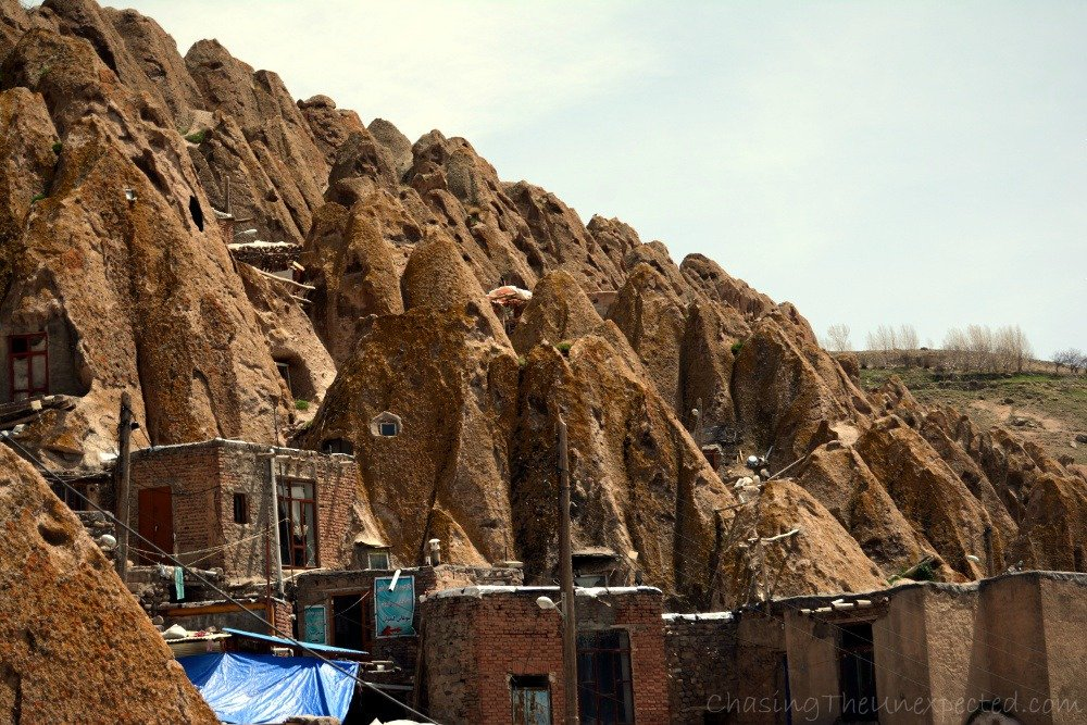 A view of the town of Kandovan near Tabriz
