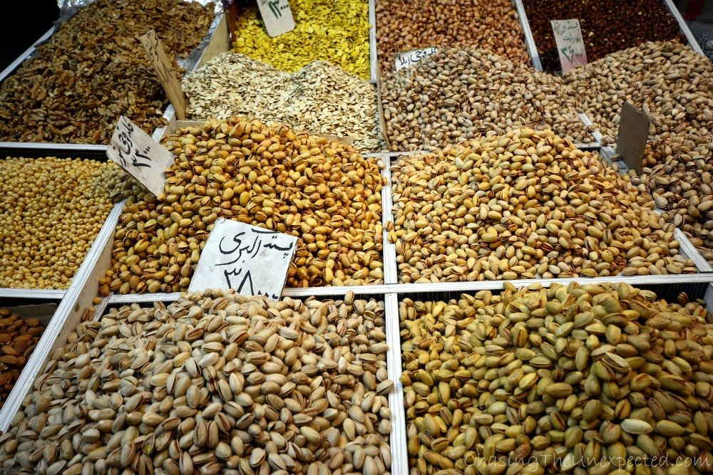 Pistachio for every taste at Tabriz Grand Bazaar