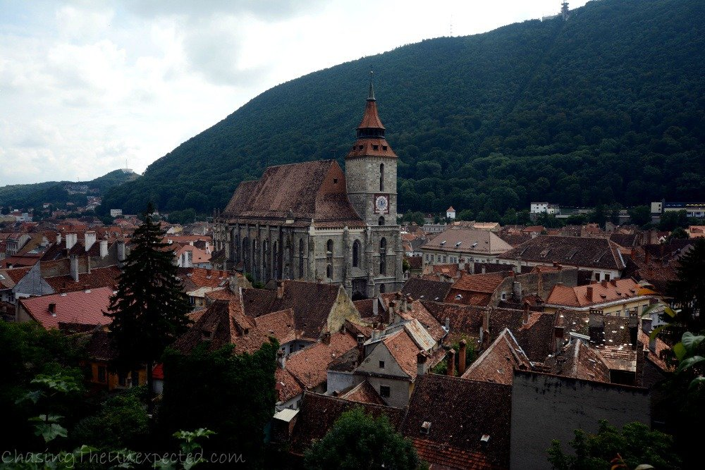 A view over Brasov from the Black Tower, one of the city's best viewpoints