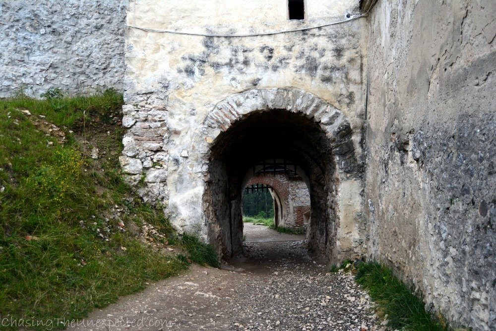 One of the gates in Rasnov medieval fortified citadel