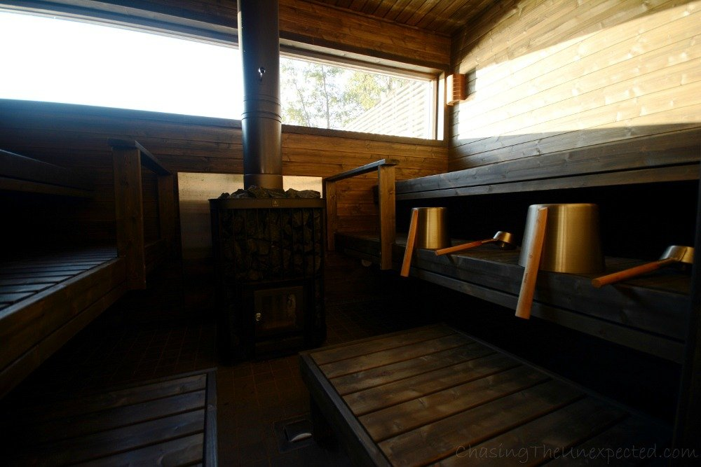 Our sauna with a beautiful view on Lake Paijanne