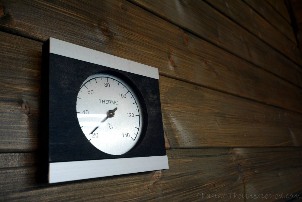 The thermometer to see where the temperature is going after all the loyly activity