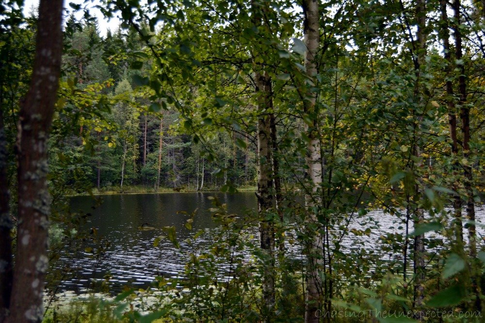 The beautiful Lake Mustajärvi where we swam right after the sauna.