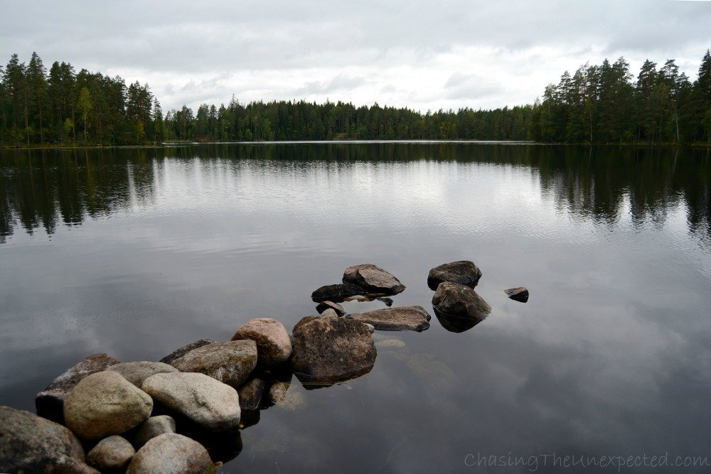 Hiking around Sammalisto Lake and experiencing Finland's woodland