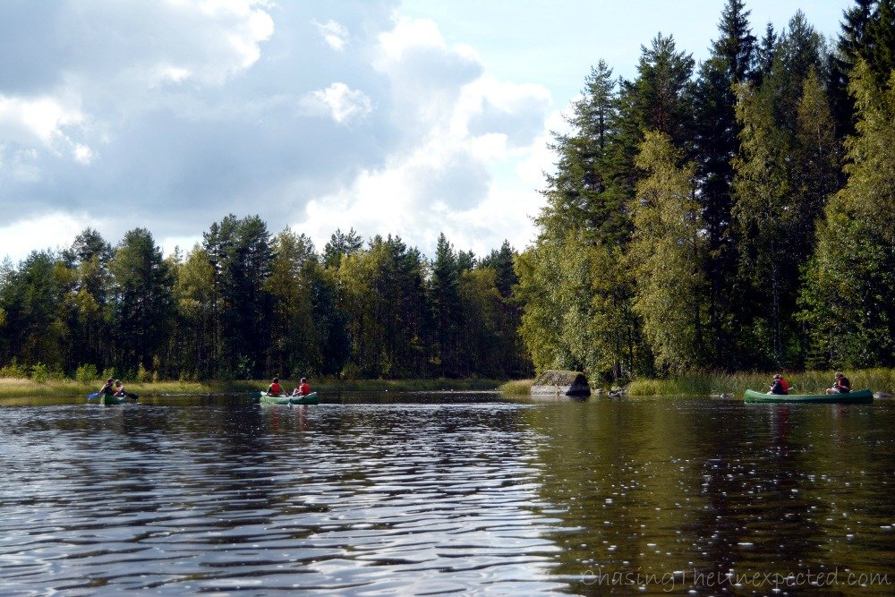 Canoeing in a group
