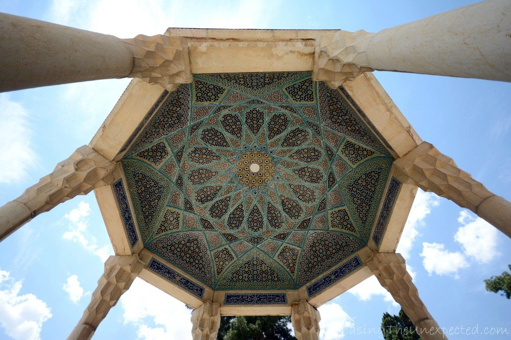 Decoration of the ceiling of Hafez mausoleum