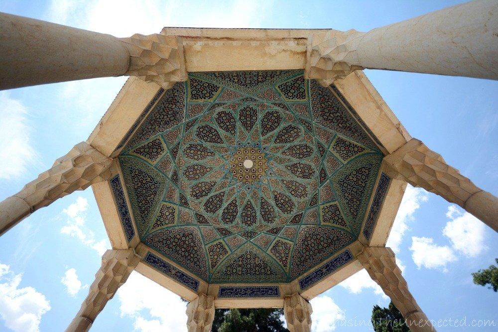 Decoration of the ceiling of Hafez mausoleum