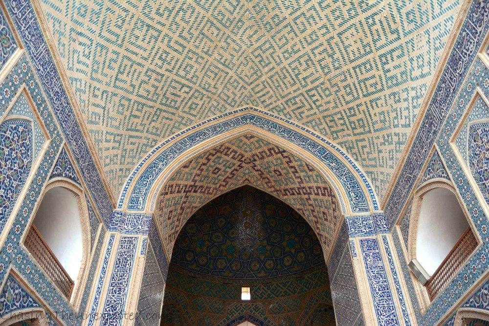 Mesmerizing interior decorations of Yazd Grand Mosque
