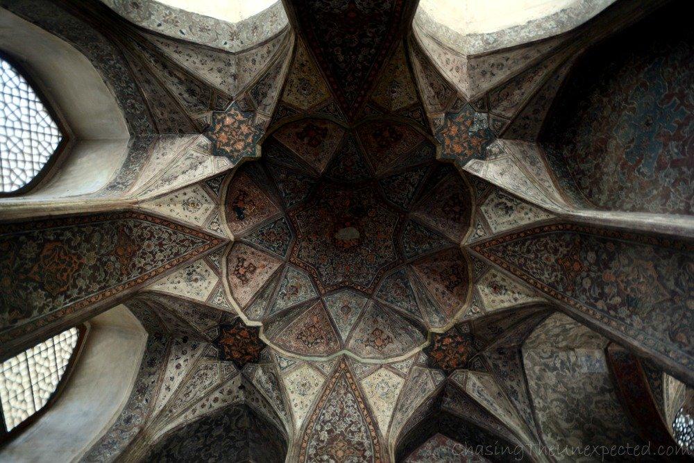 Inside Hasht Behesht Palace in Esfahan