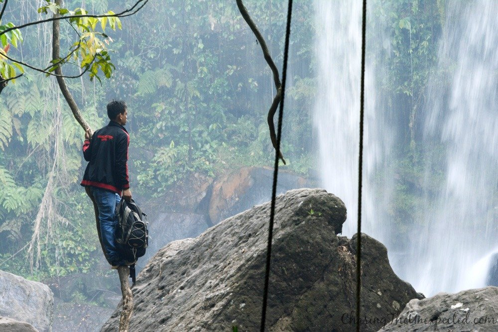 Watching the waterfalls from a privileged position
