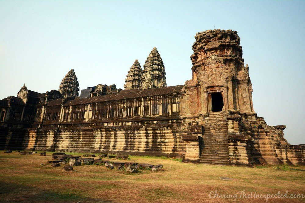 A view from outside Angkor Wat main temple