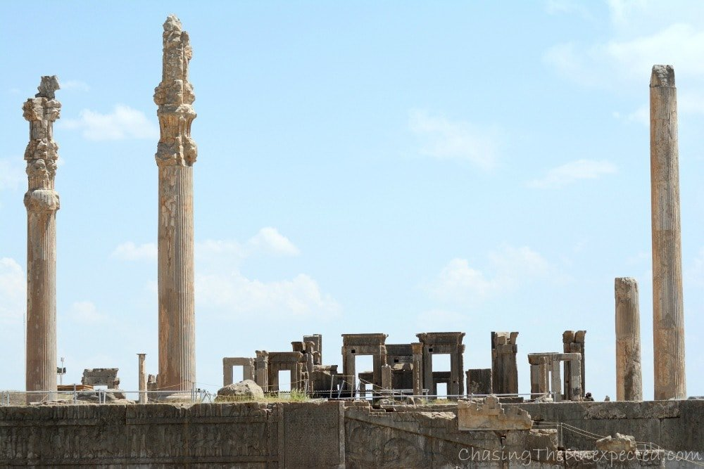 The ruins of ancient palaces in Persepolis