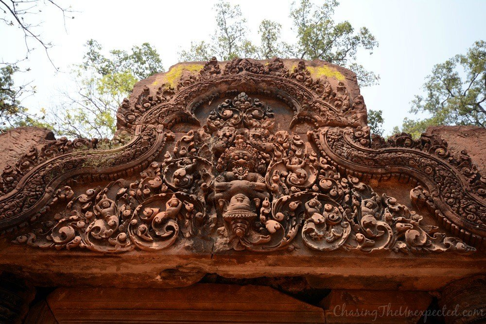 The fine carvings of Banteay Srei