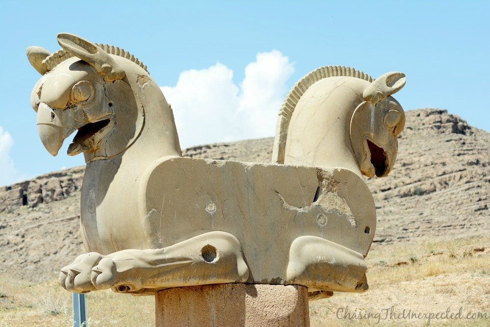 The famous lions decorating Persepolis