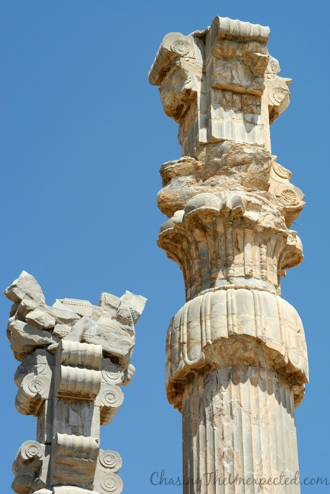 Detail of pillars in Persepolis