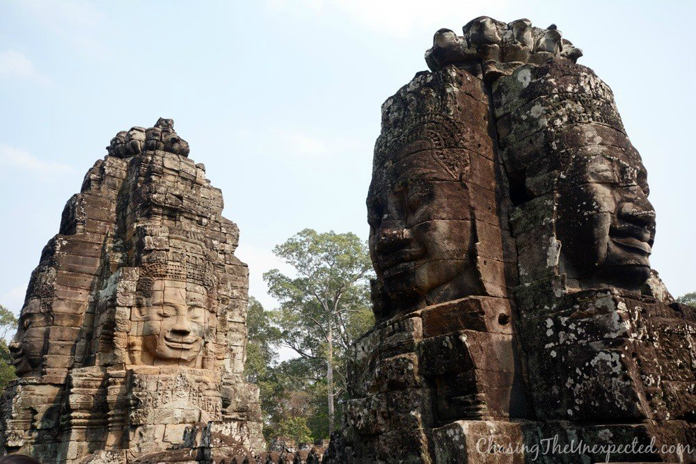 The face-towers of Bayon temple