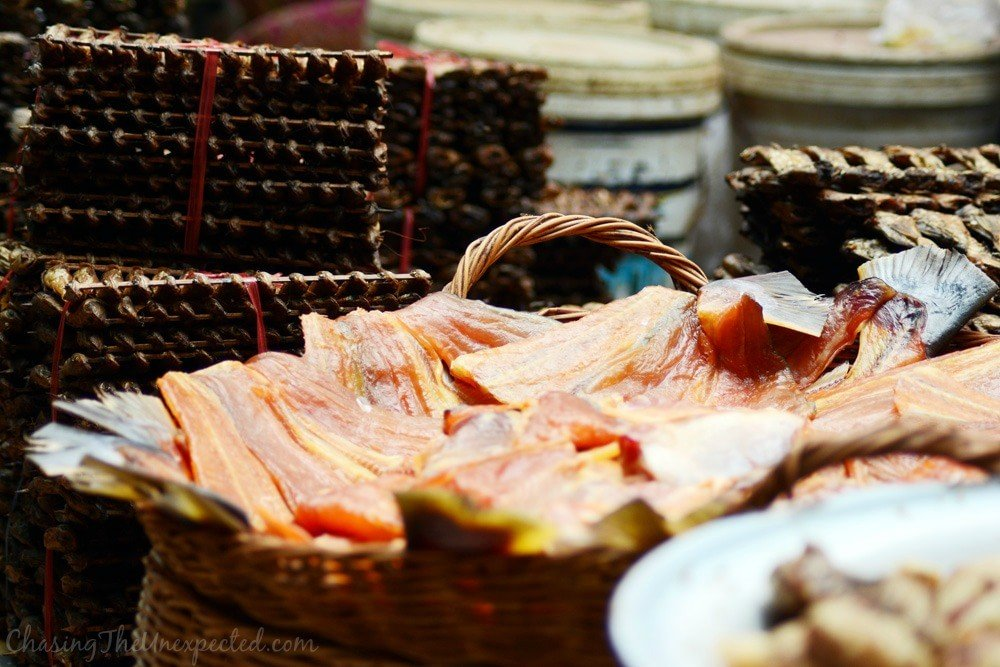 Dried fish on sale