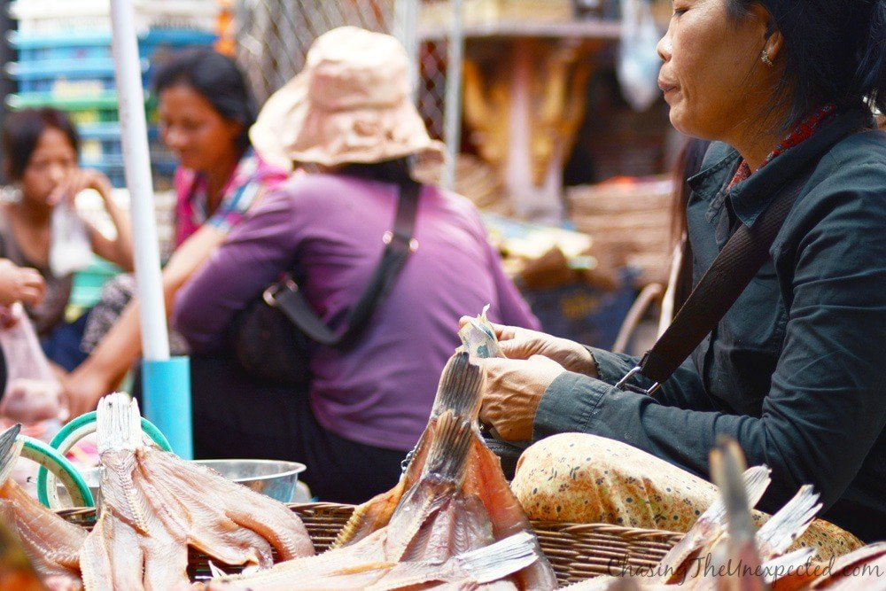 The woman behind the dried fish