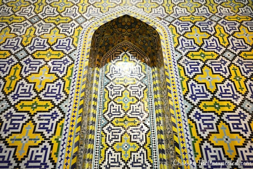 Detail of the interior decoration of Vakil mosque