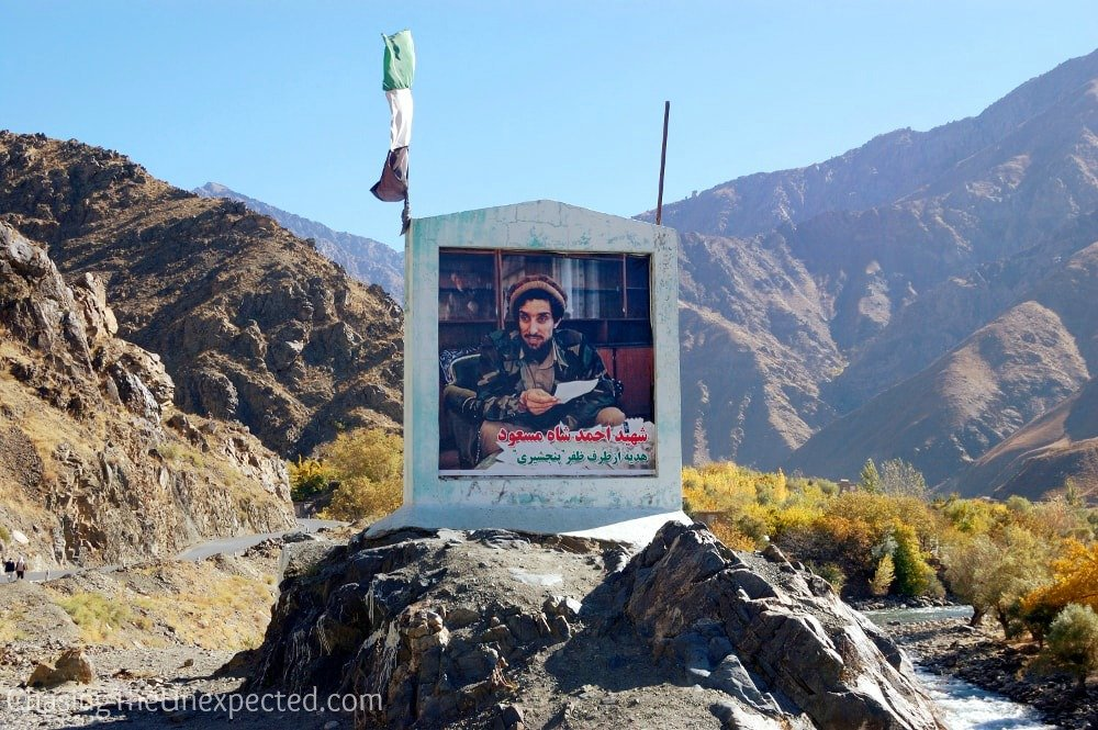 Massoud photo in Panjshir Valley