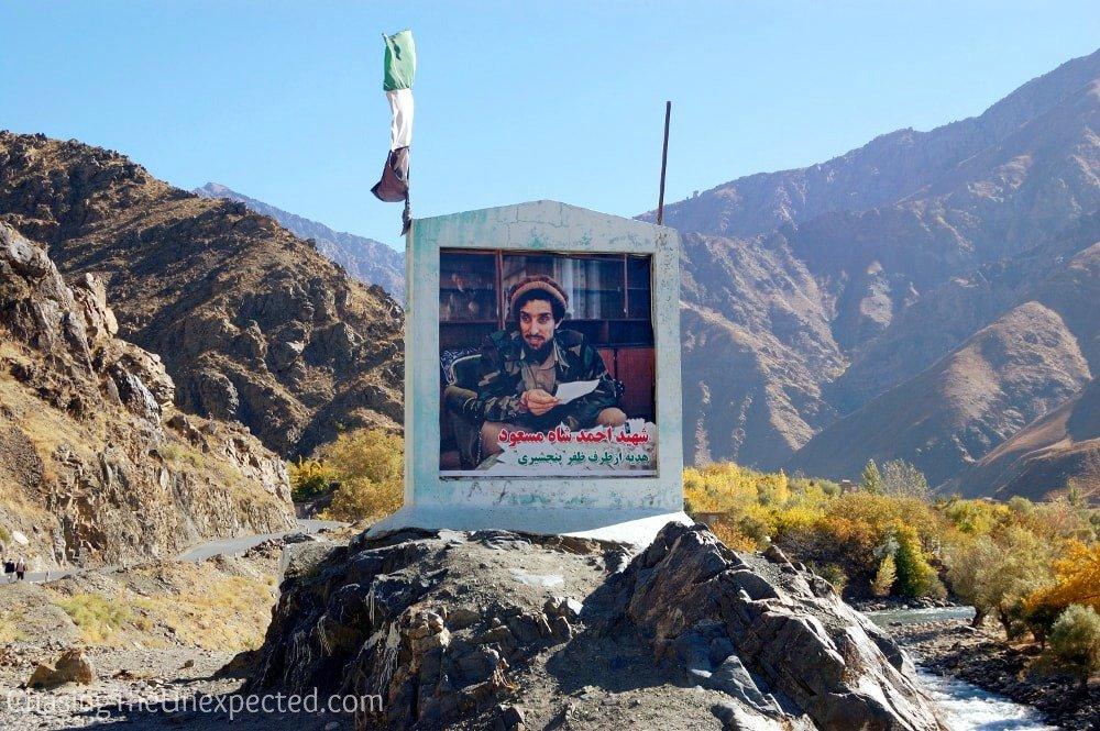 Massoud photo in Panjshir Valley