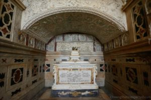 The crypt in Saint Mary's Cathedral, one of the most interesting places to visit in Cagliari city centre.