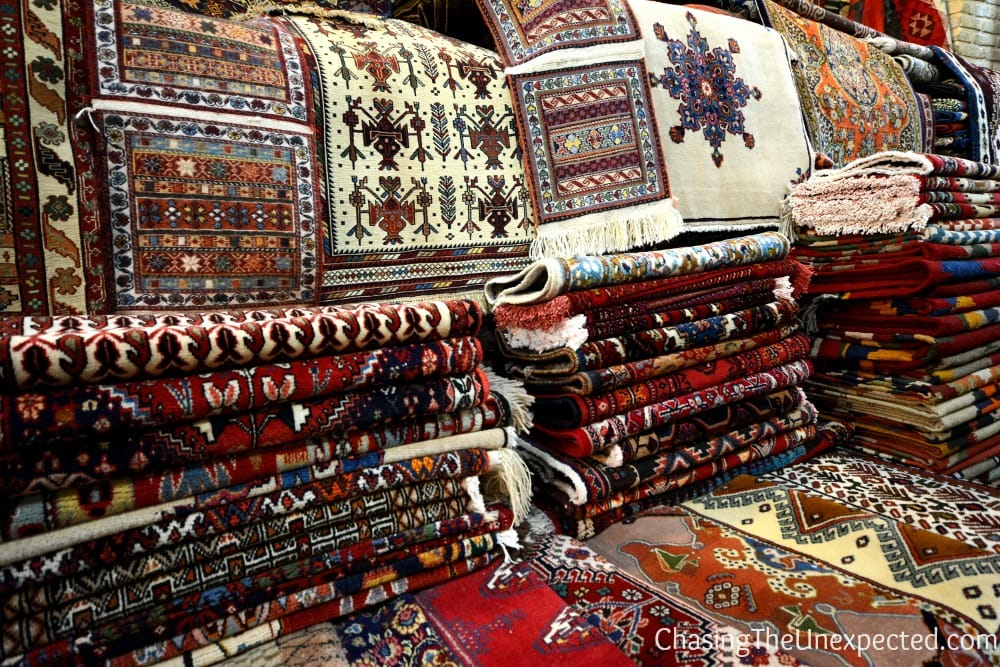 Bargain in Farsi for Persian carpets