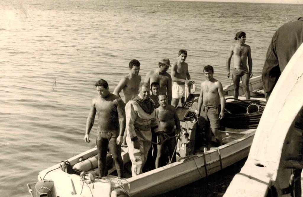 Capo Cubeddu at the Varignano, training school for deep-sea divers of the Italian Navy