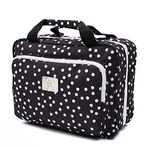 af52f50877 One of the pretty toiletry bags for women is the B C hanging cosmetic bag.  This large hanging travel make-up bag is made of sturdy 600D polyester