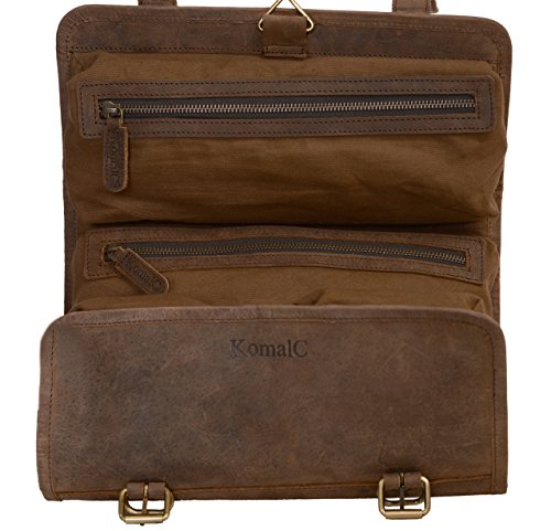 82274fdec1 One of the best seller men s leather toiletry bags is this model by Vetelli.  The brand is popular for making the best toiletry bag for men.