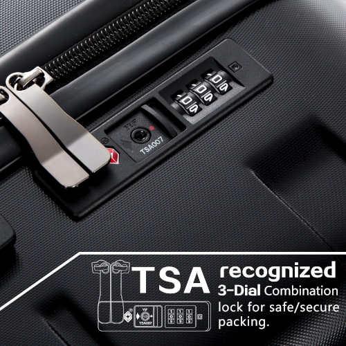 Hardside Spinner Luggage lock