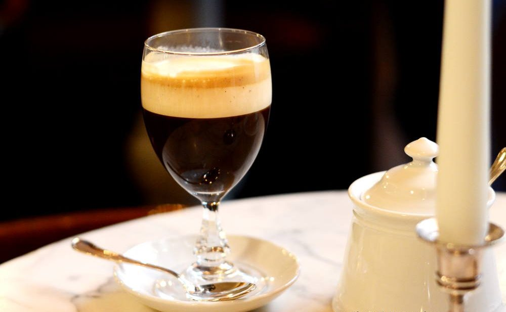 Bicerin drink in Turin, Italy