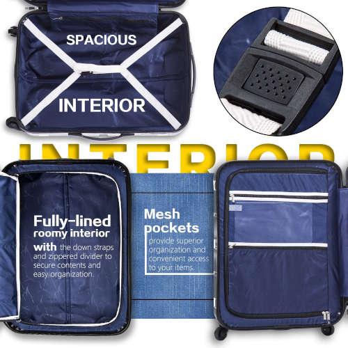 caryy-on luggage hardshell compartment