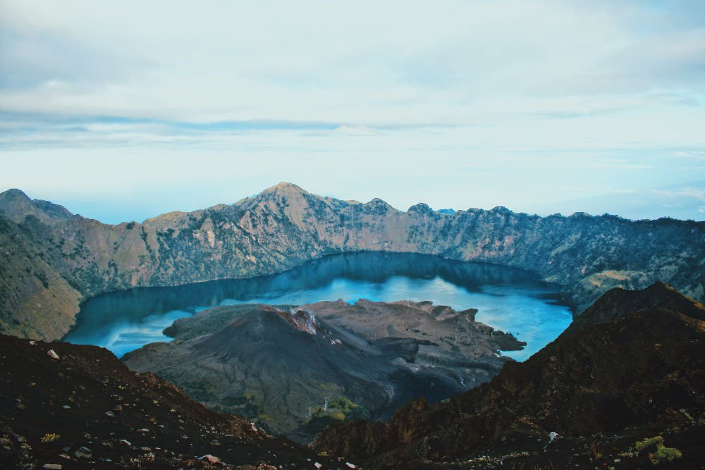 Mount Rijani one of the top things to see in Indonesia.