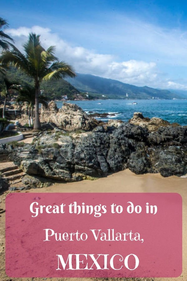 Pinterest image: One image of Puerto Vallarta with caption reading: Great things to do in Puerto Vallarta, Mexico