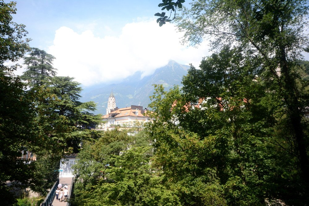 A view from Merano, one of the best places to visit in Trentino Alto Adige