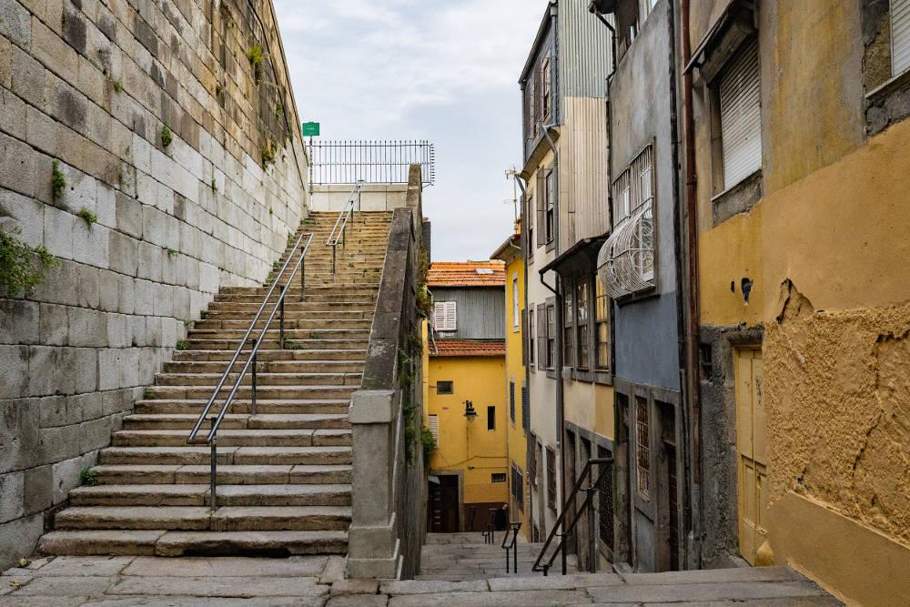 Steep Porto streets