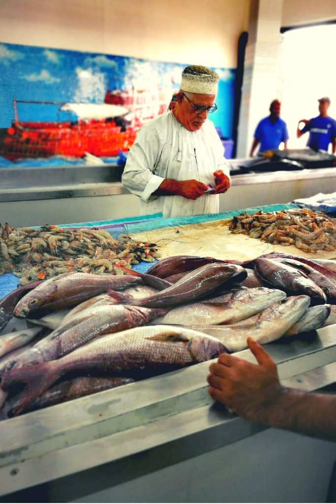 Muttrah fish market in Muscat