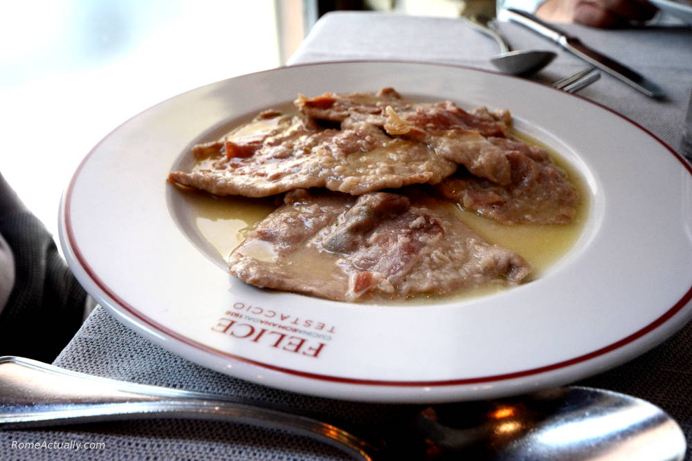Saltimbocca alla romana to eat in Rome