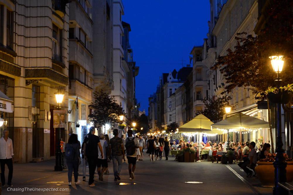 vaci street budapest