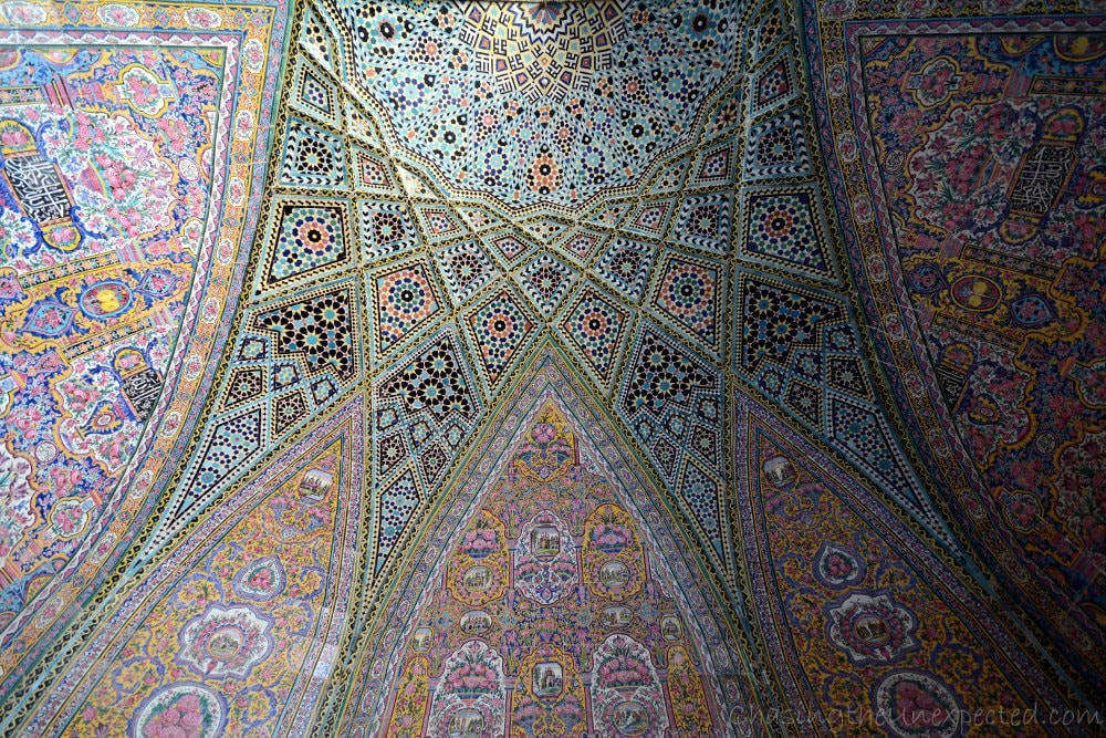 Outside decorations of Nasir al Molk mosque