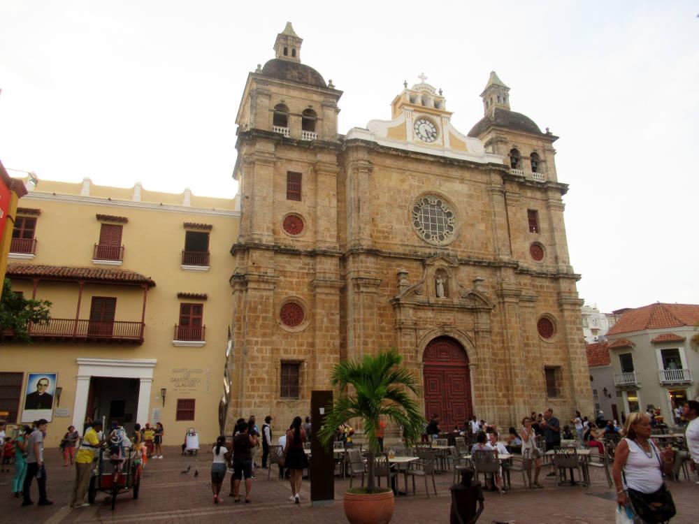 Image: San Pedro Claver Church in Cartagena, Colombia